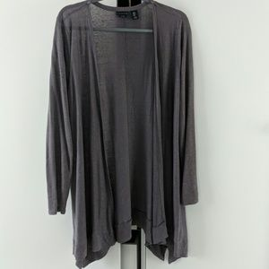 Tahari 100% Linen Duster Cardigan